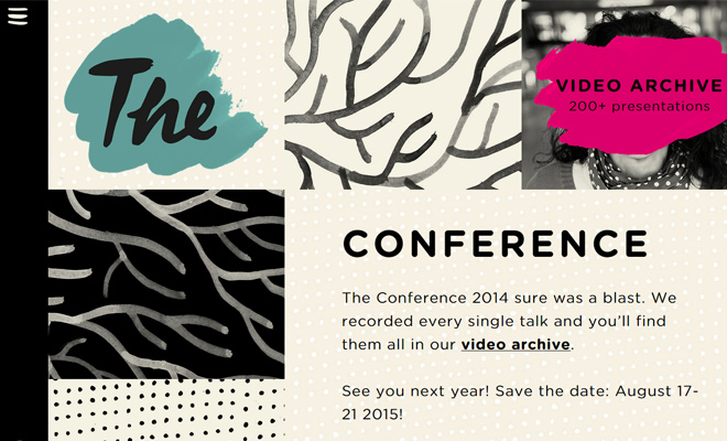 the conference 2014 web design inspiration