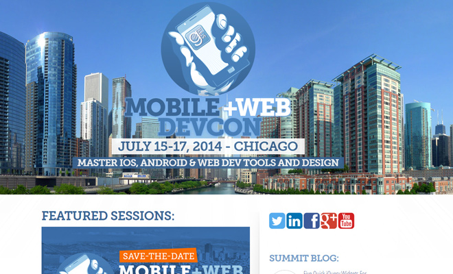 mobile web development conference website
