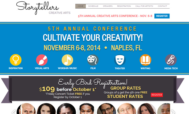 storytellers creative arts conference website
