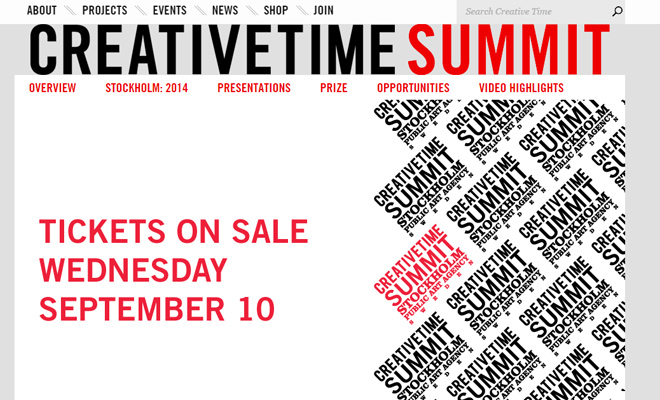 creative time summit website homepage