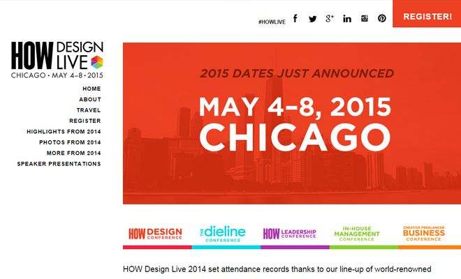 how design live conference 2015 website