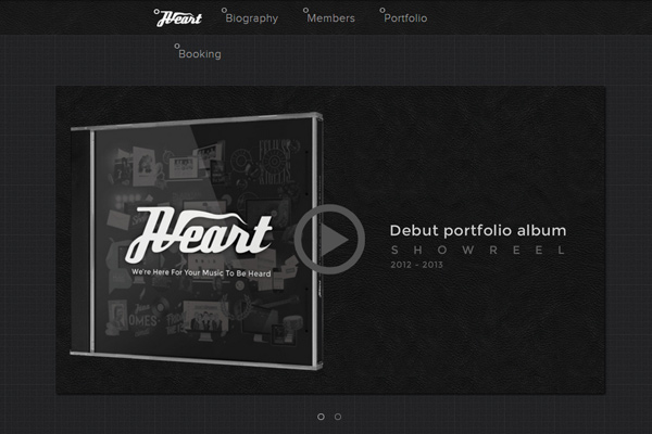 jveart design marketing dark website