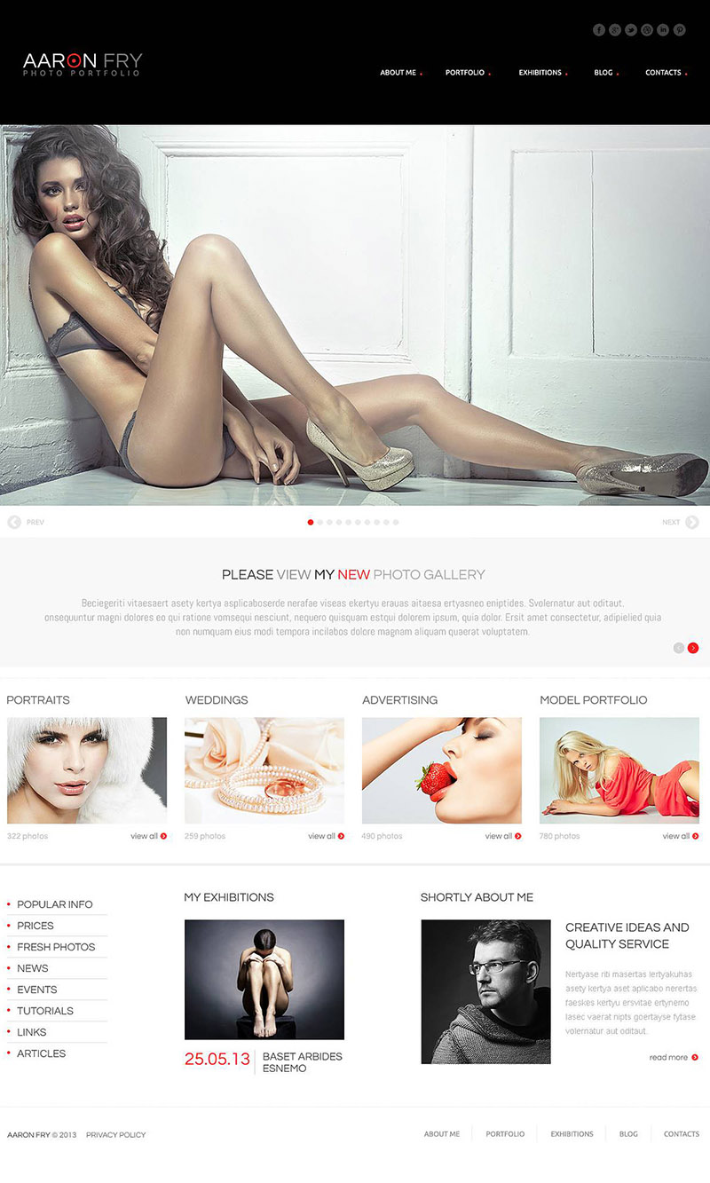 Fashionable Photography Template