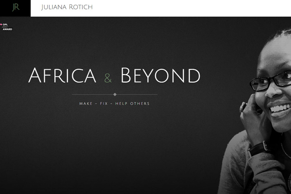 dark website layout juliana rotich