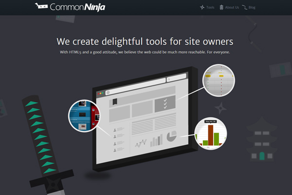 common ninja graphics dark website