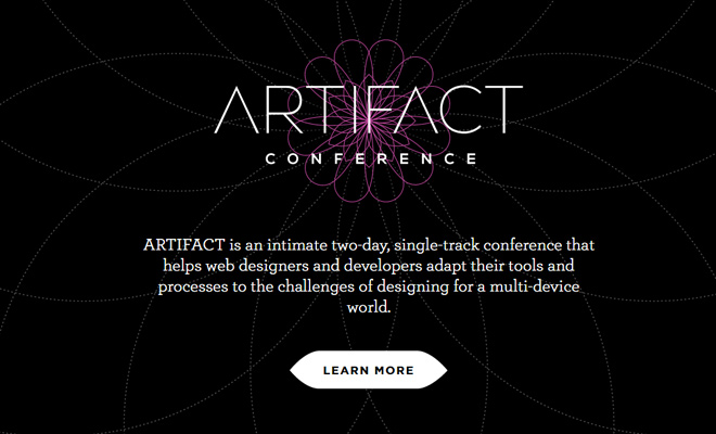 artifact web designers developers conference website