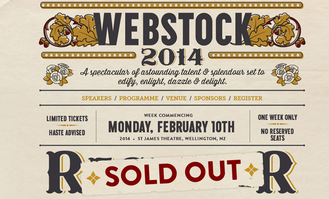 webstock conference 2014 website design