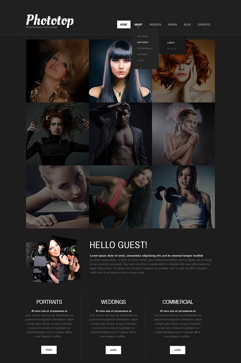 Stylish Photo Studio Template