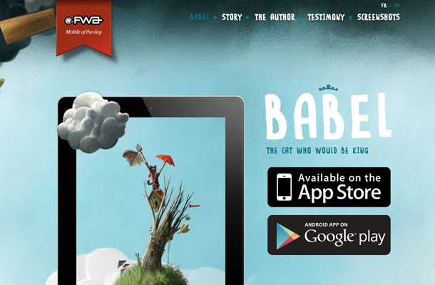 babel cat king ios app landing page