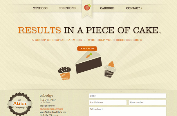 cabedge nashville web design layout animation