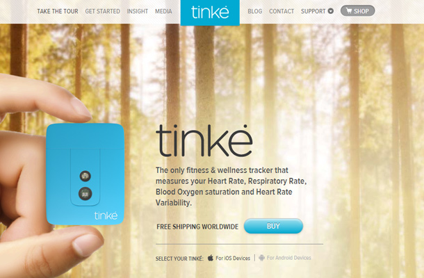 tinke take the tour device website landing page