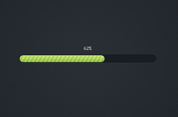 pretty green striped progress bar freebie