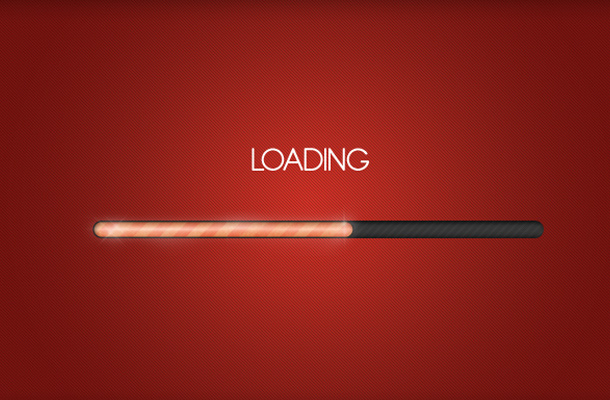 bright orange vibrant loading bar