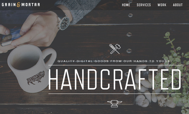 grain and mortar website design agency inspiration