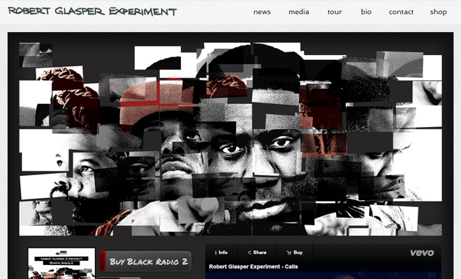 robert glasper website layout homepage