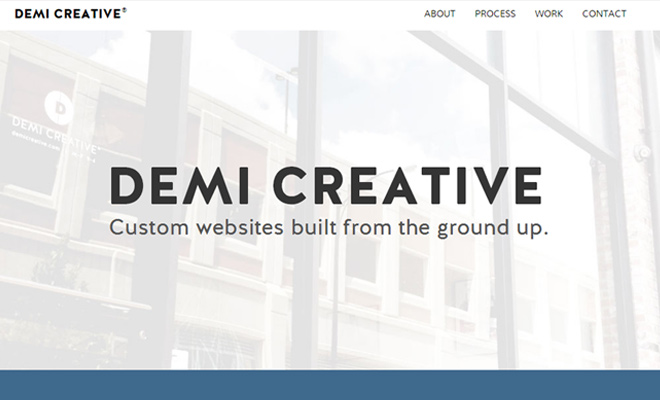 clean website agency design demi creative