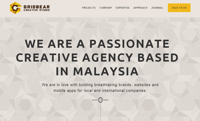 grid bear website creative design agency