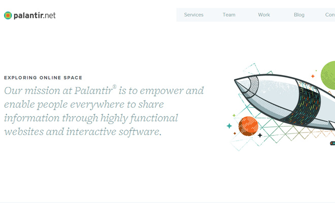palantir website clean white responsive