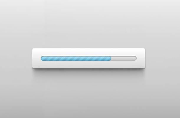 thin blue striped loading bar