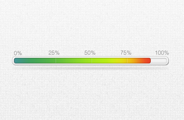 green orange status loading bar indicator psd