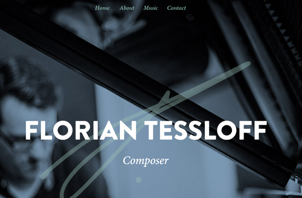 florian tessloff music composer website homepage