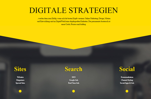 digital werk online agency typography