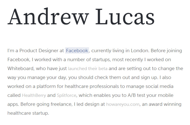 andrew lucas clean minimalist website layout
