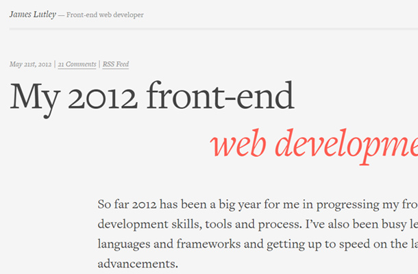 james lutely frontend developer website