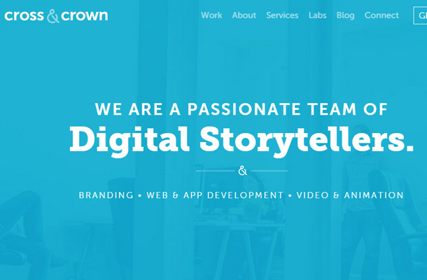 cross and crown web design identity homepage