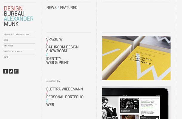 alexander munk website design portfolio