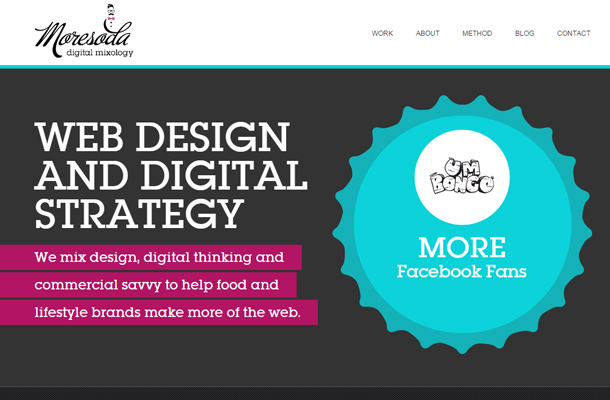 moresoda digital website clean typography inspiration