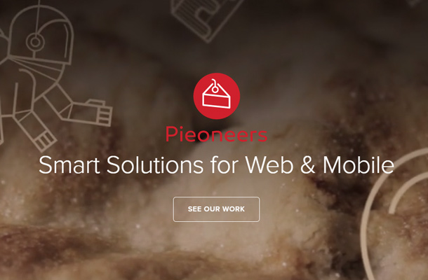 pieoneers homepage digital agency layout