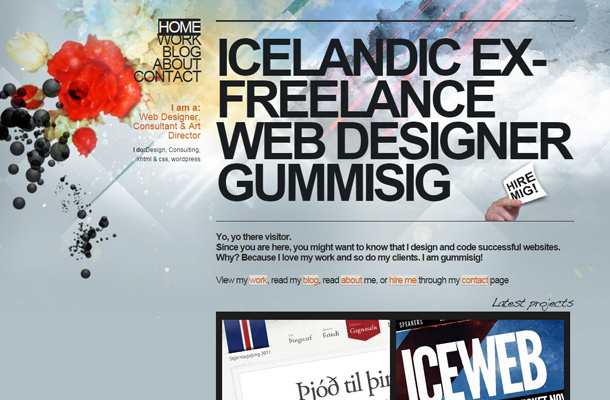 gummisig website agency design layout