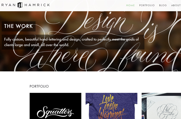 ryan hamrick personal design portfolio website