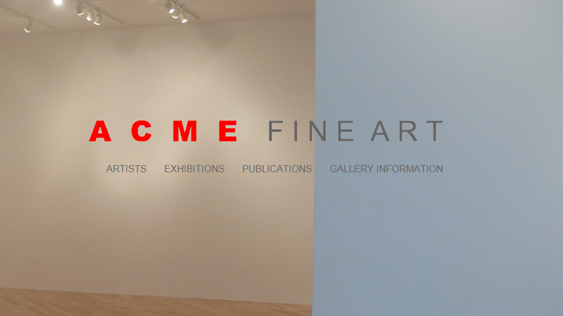 acme fine art website gallery homepage