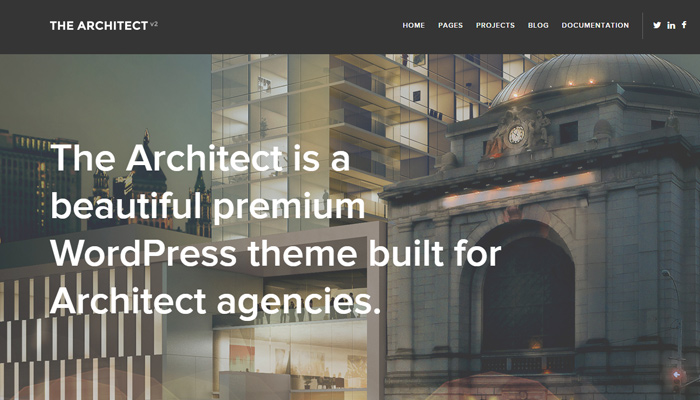 the architect version2 theme wordpress