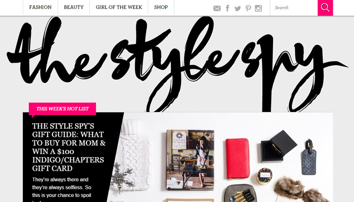 style spy magazine pink black white simple colorful