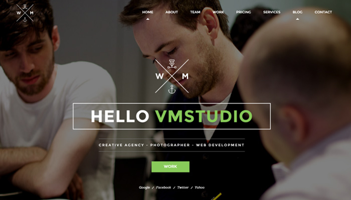 w and m wordpress creative portfolio theme responsive