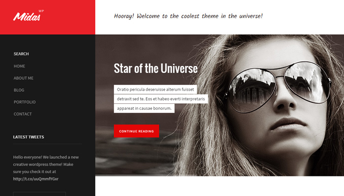 midas unique wordpress theme portfolio