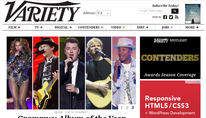 variety clean magazine website layout
