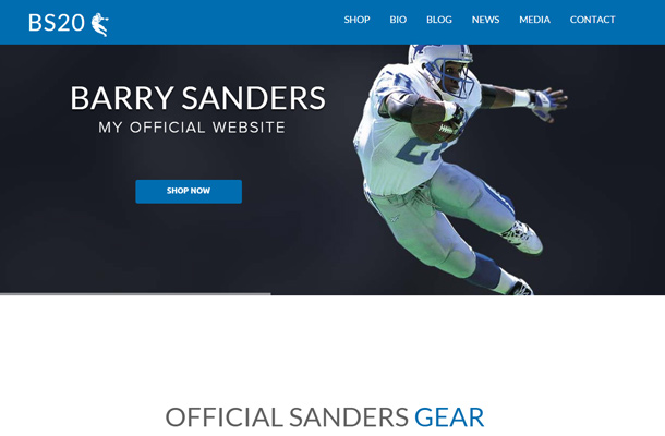 barry sanders athlete personal website