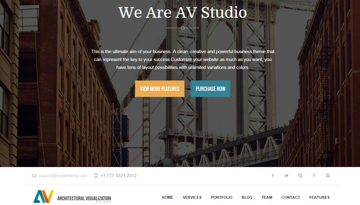 av architecture studio portfolio wordpress theme