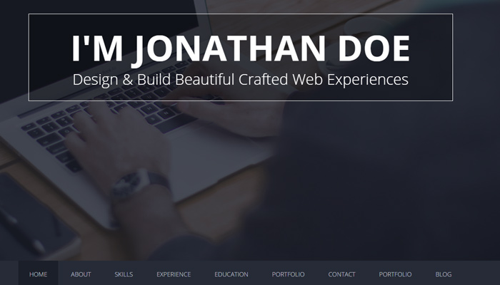 flatoo vcard resume portfolio wordpress theme responsive