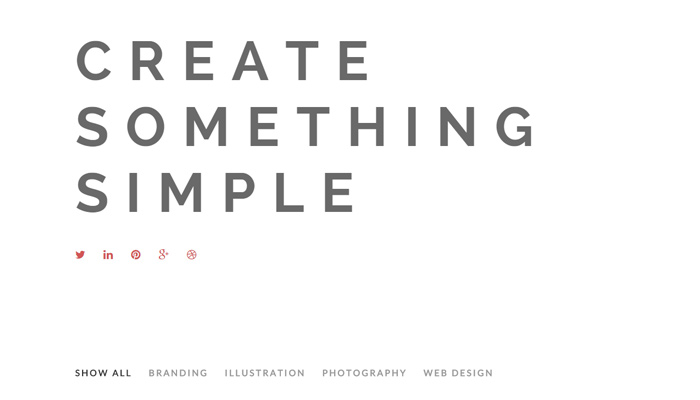 modest white minimal portfolio wordpress theme