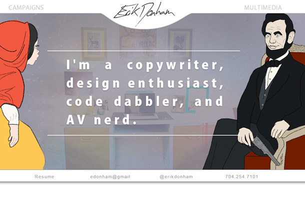erik donham custom copywriter website