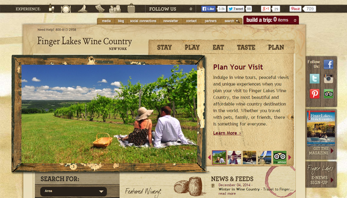 finger lakes wine country simple website