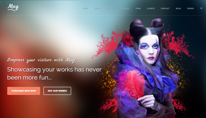 mug creative single page portfolio wordpress
