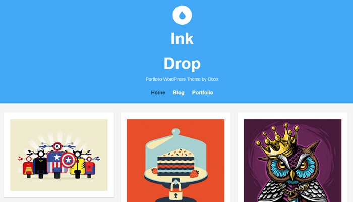 ink drop wordpress portfolio theme