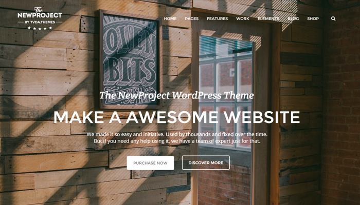 new project multipurpose wordpress portfolio theme