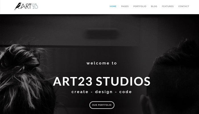art23 responsive fullscreen bg wp theme